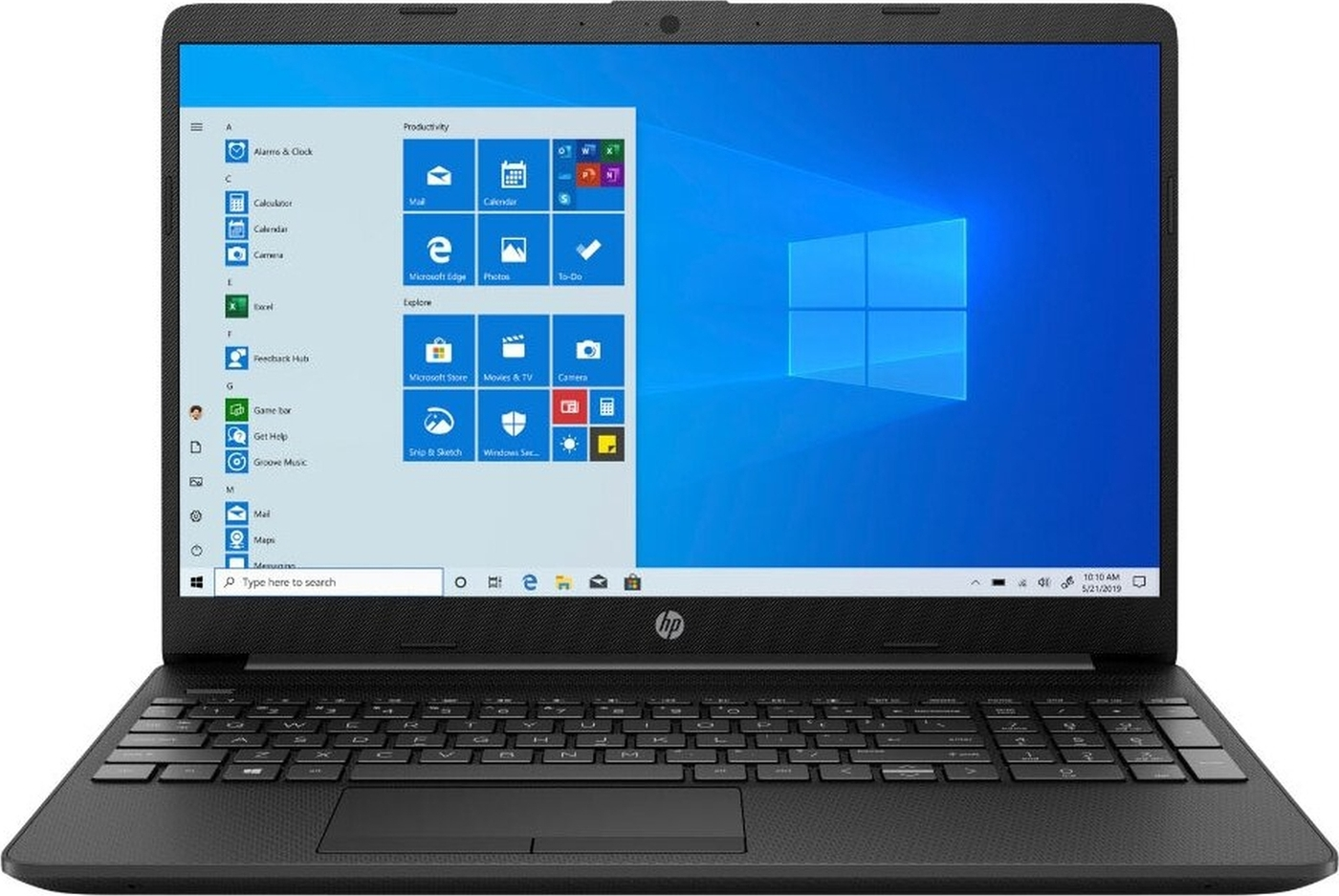 "15.6"" ноутбук hp laptop 15 15-gw0038ur, amd ryzen 3 3250u (2.6 ггц), ram4 гб, ssd 128 гб amd radeon radeon 620, windows 10 home, (22p94ea), черный"