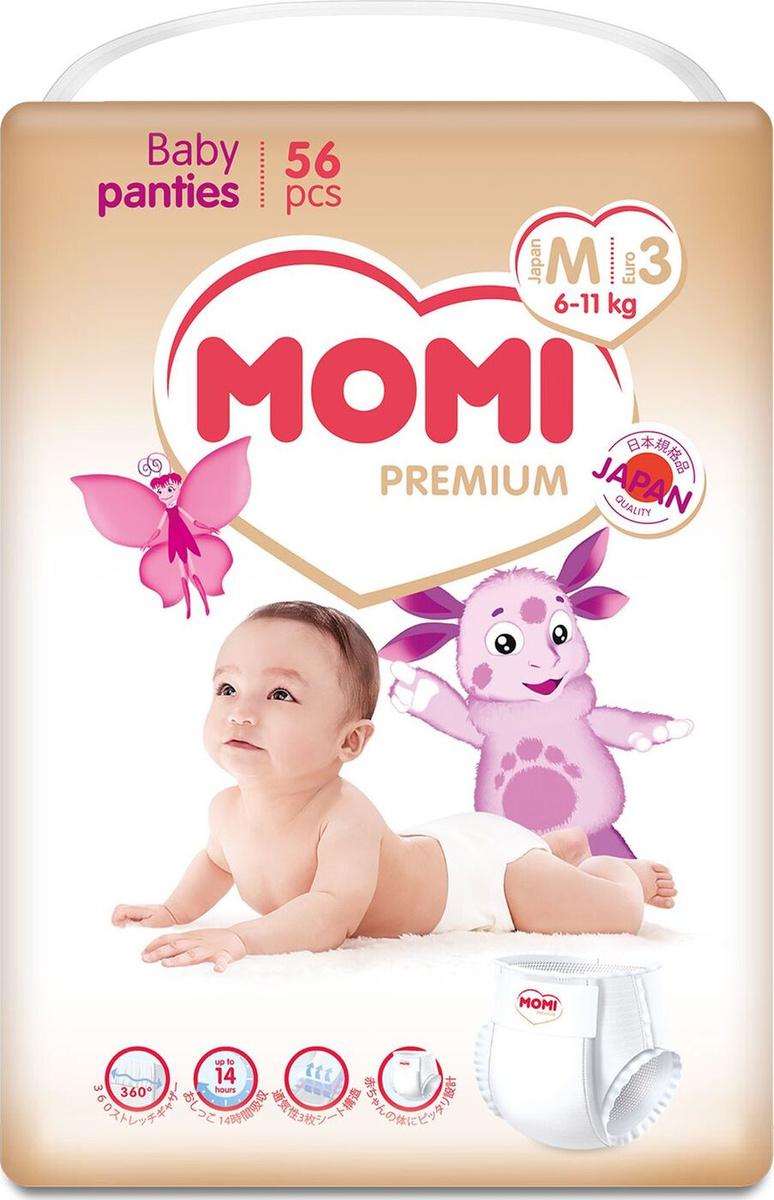 Трусики Momi Premium, размер М, 6-11 кг, 56 шт #1