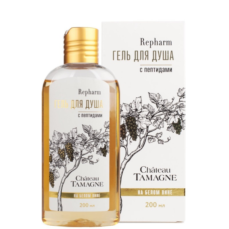 Repharm Гель для душа Chateau Tamagne на белом вине с пептидами 200 мл  #1