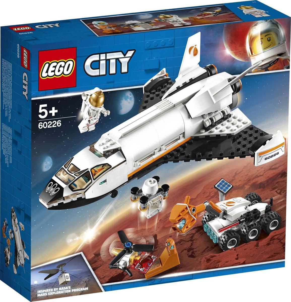 Конструктор LEGO City Space Port 60226 Шаттл для исследований Марса  #1