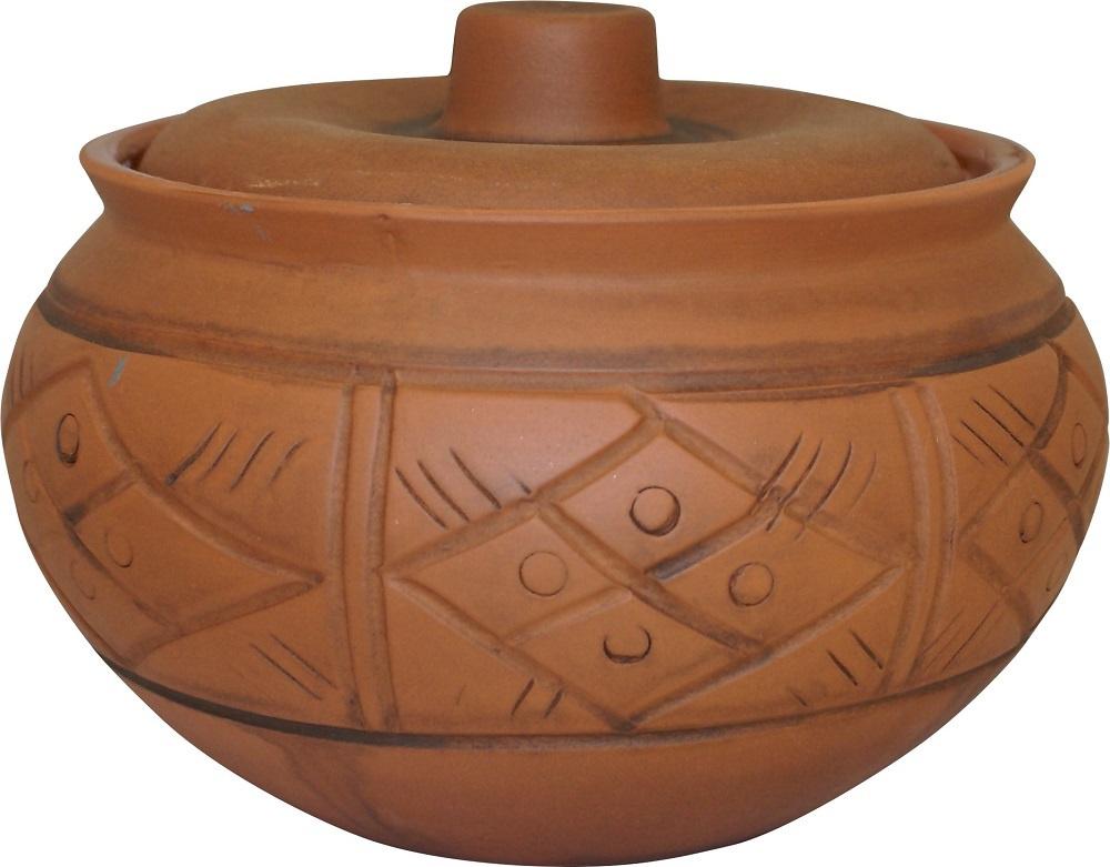 Посуда керамическая Жаровня малая без ручек 2л (молочение) 120321 Кунгурская керамика  #1