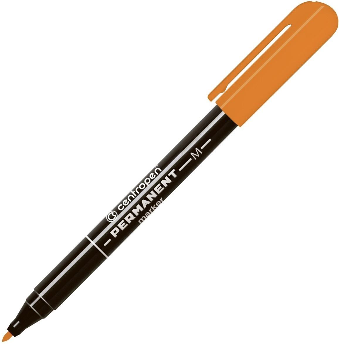 Маркер перманентный Centropen оранжевый 1,0 мм пулевидный наконечник  #1