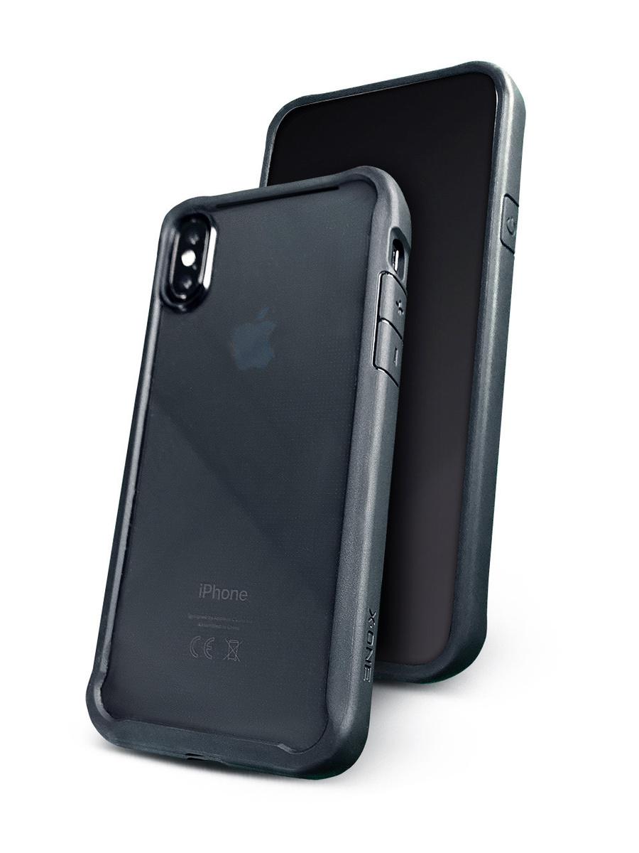 Чехол для iPhone XS X-ONE DropGuard 2.0 Прозрачный с черным матовым бампером Противоударный  #1