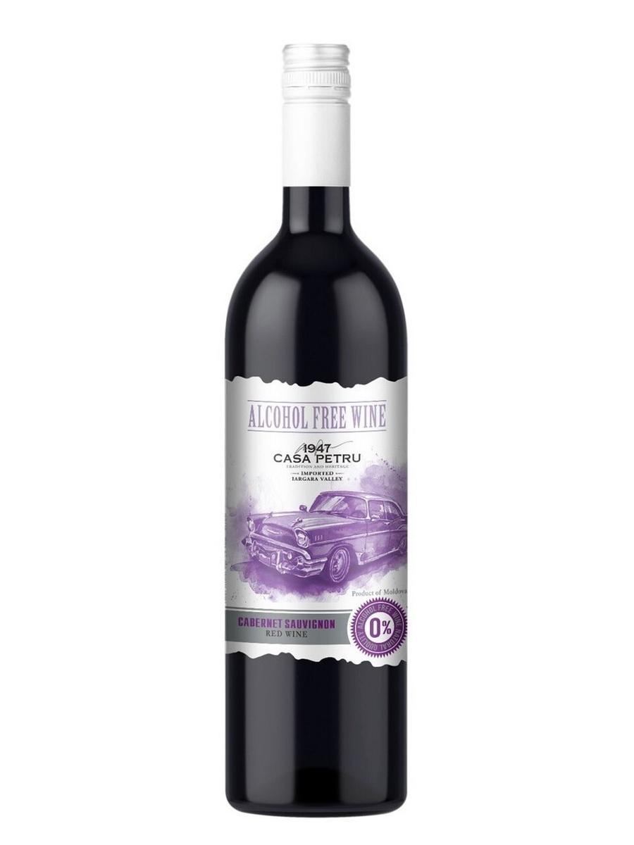 """Вино безалкогольное Casa Petru (Каса Петру) Каберне Совиньон"""" 0,75 красное сладкое, Молдавия  #1"""