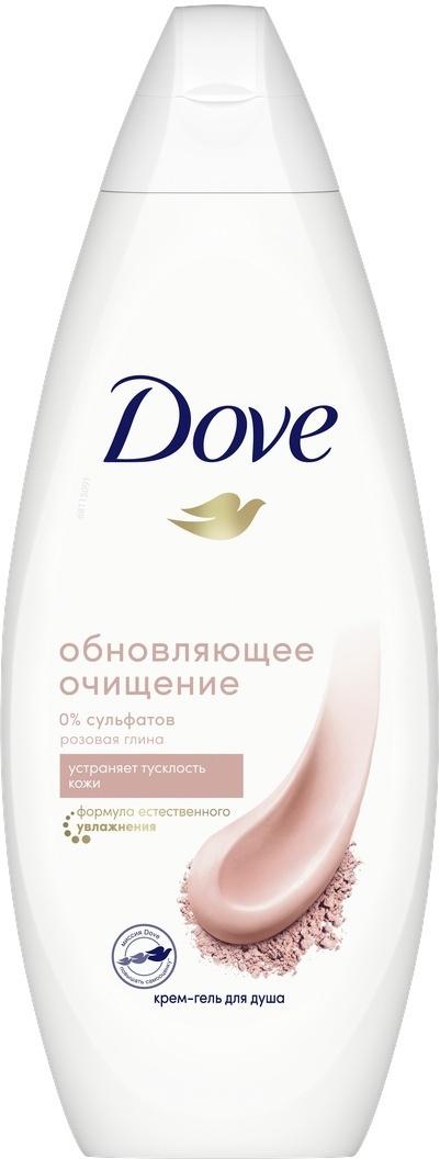 Dove Гель для душа Розовая глина, бессульфатный, 250 мл #1