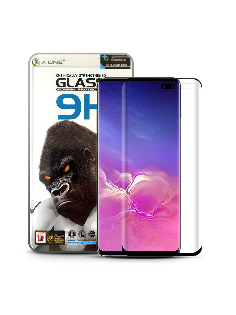 Защитное стекло для Samsung S10+ X-ONE Gorilla Glass 9H на экран противоударное  #1