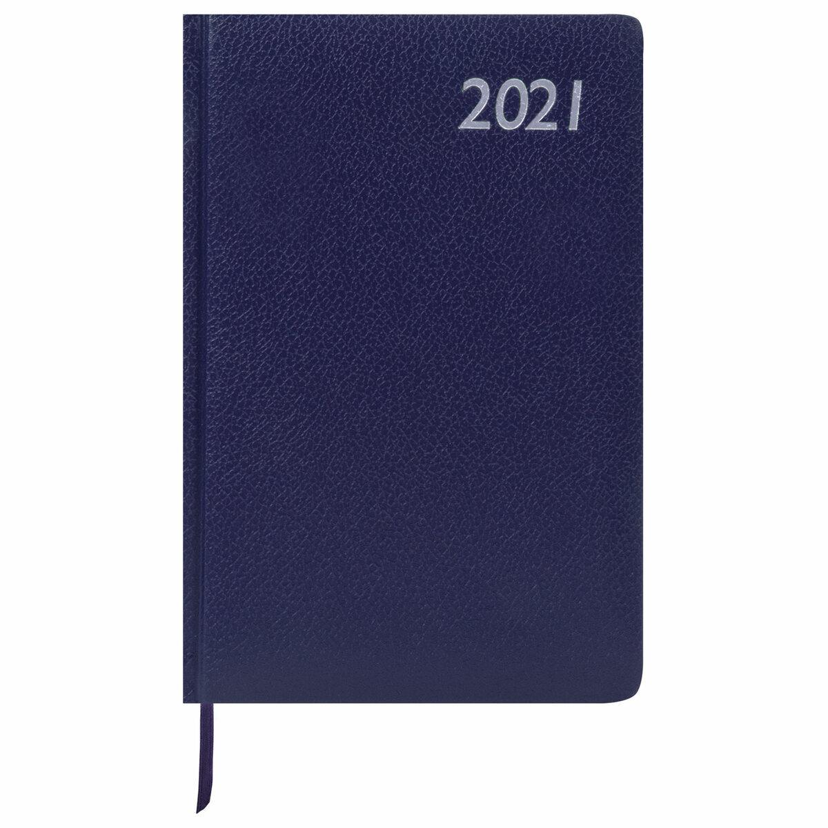 Еженедельник-планер (планинг) датированный формата А5 на 2021 год, 64 листа, Brauberg Instinct, кожзам, #1