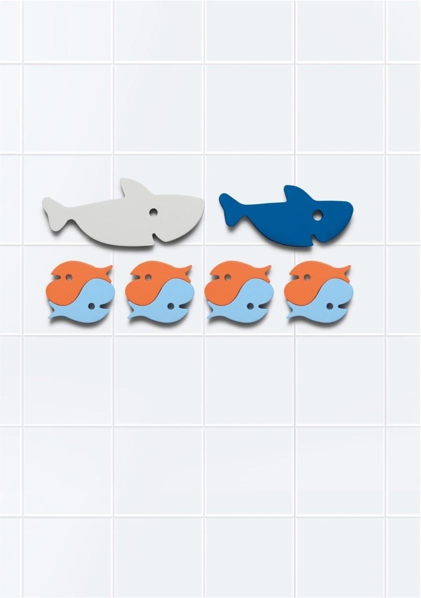 Quut Мягкий 2D пазл для игры в ванне Quutopia. Акулы, 10 элементов  #1