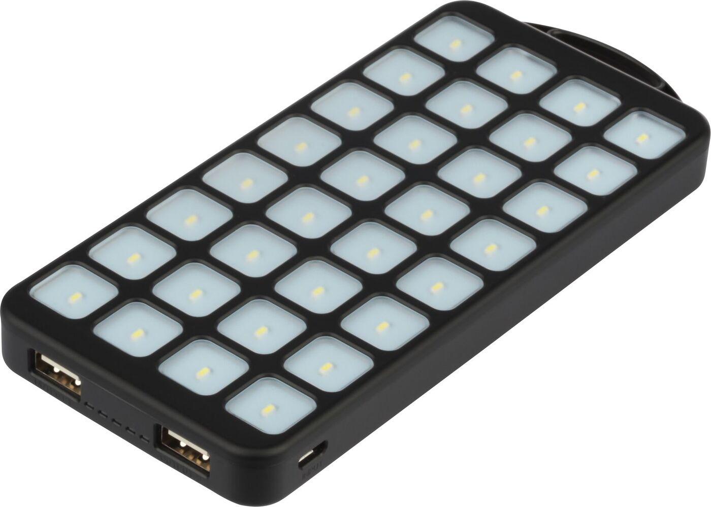 Внешний аккумулятор Qumo PowerAid Tourist Solar, черный цена и фото