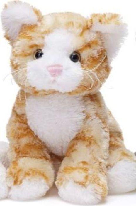 Мягкая игрушка Teddykompaniet Котенок, оранжевый, 23 см
