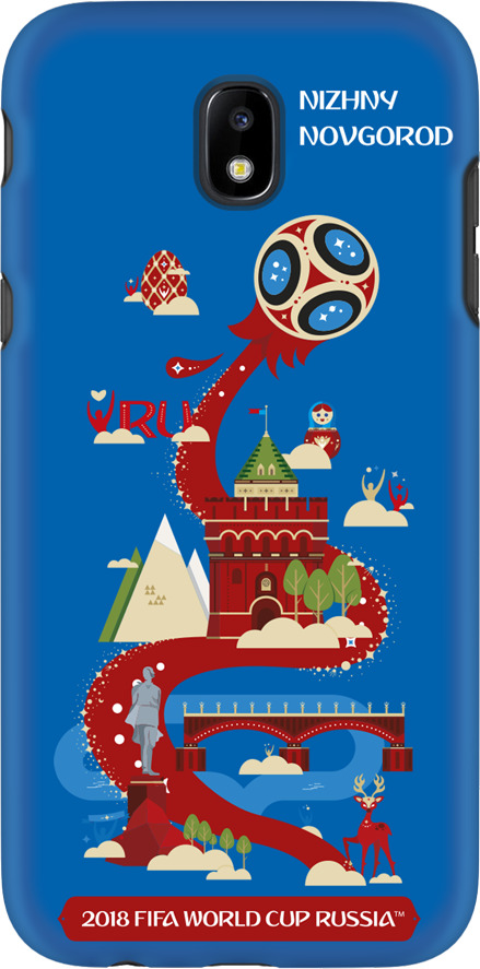 Фото - Чехол TPU для Samsung Galaxy J5(2017), FIFA Nizhny Novgorod, Deppa чехол perfeo для samsung j5 2017 tpu зеленый pf 5311