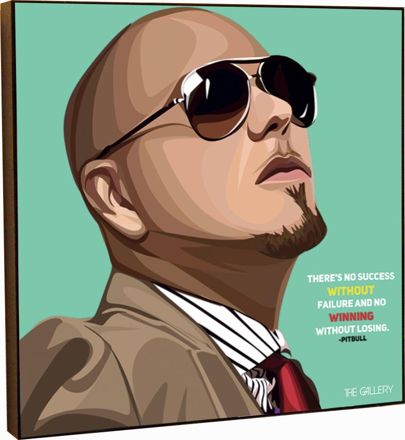 Картина постер Питбуль в стиле поп-арт 25 х см