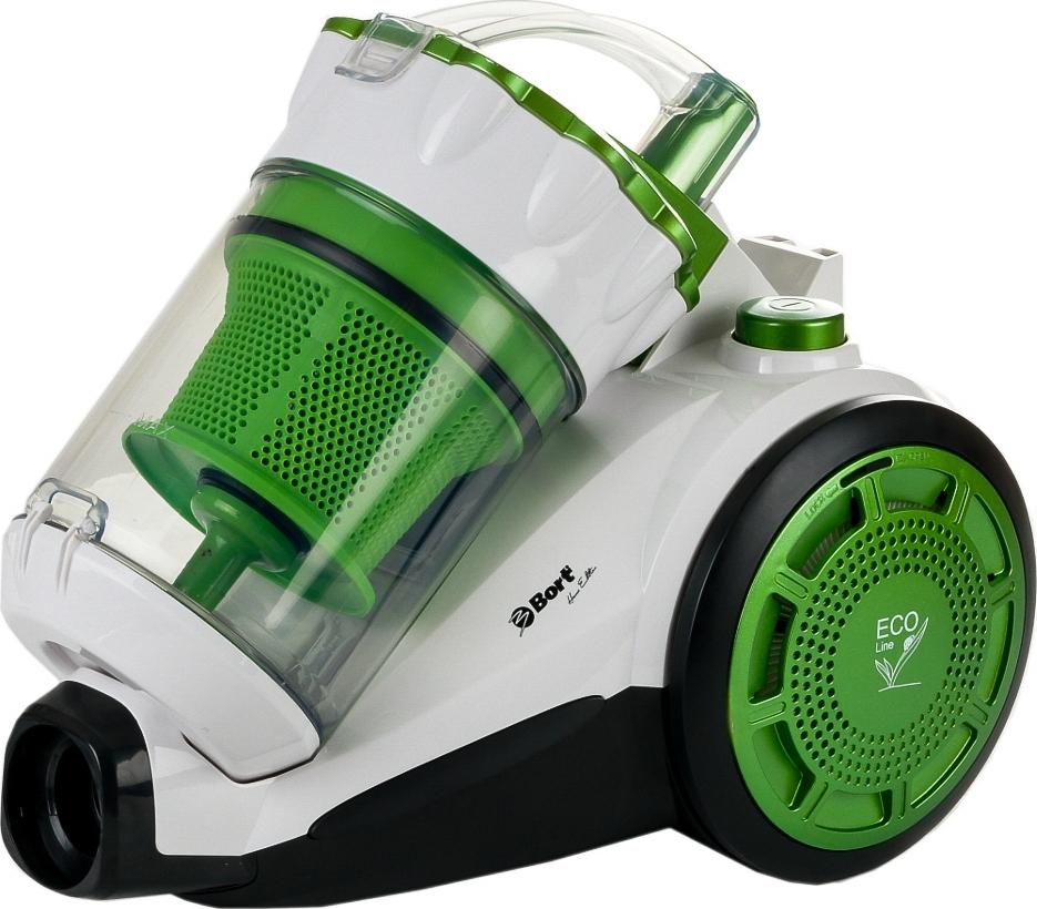 Пылесос Bort BSS-1800N-ECO Multicyclone, Зеленый-Белый пылесос с контейнером bort bss 1800n eco