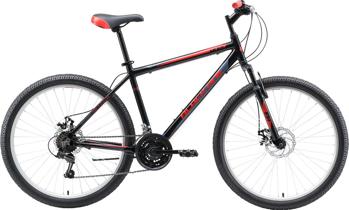 Велосипед BLACK ONE Onix 26 D Alloy 2019 20 чёрный/серый/красный