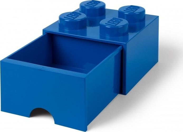 Ящик для хранения 4 выдвижной LEGO синий
