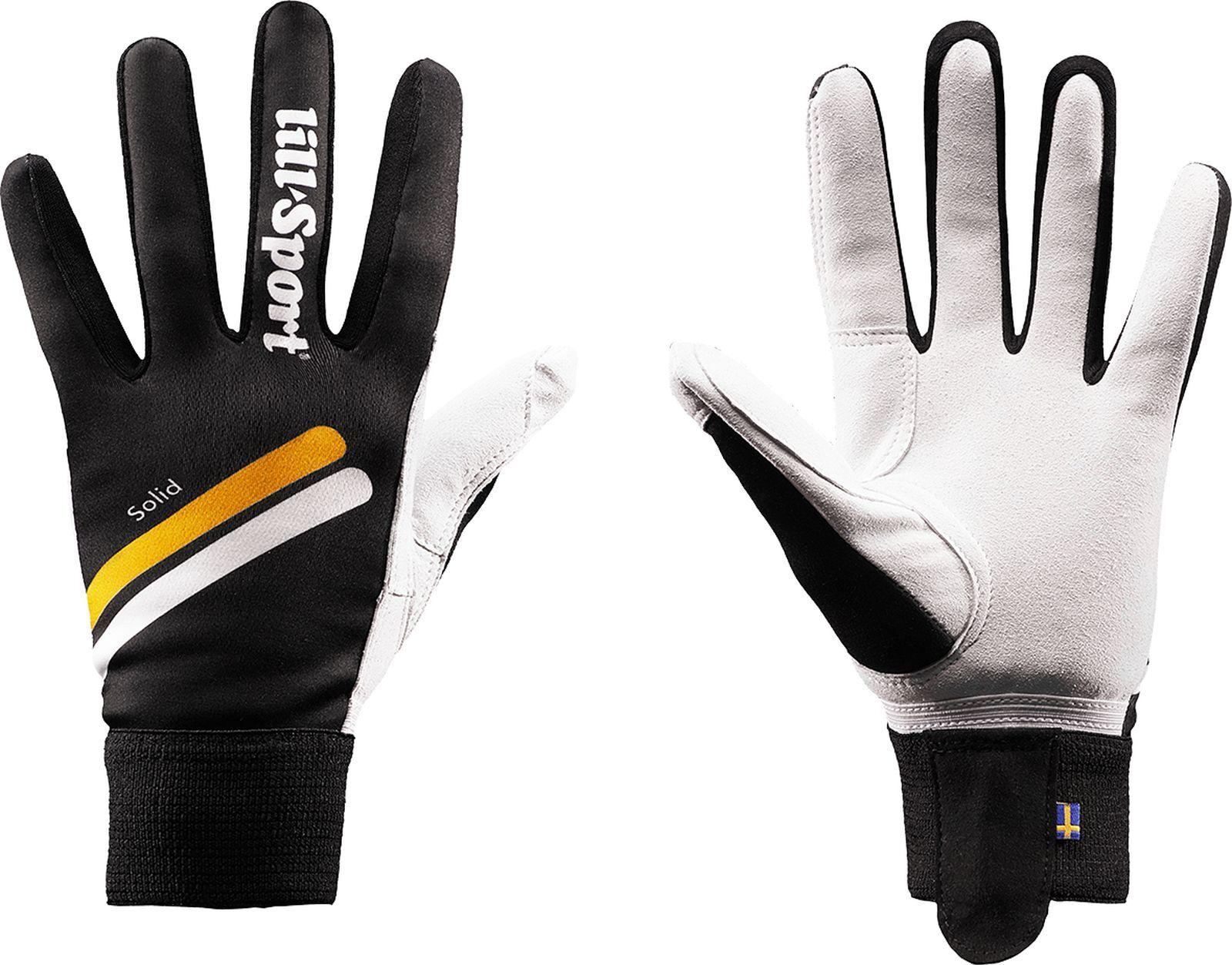 Перчатки лыжные Lillsport Solid, 0682/00, черный, размер 10