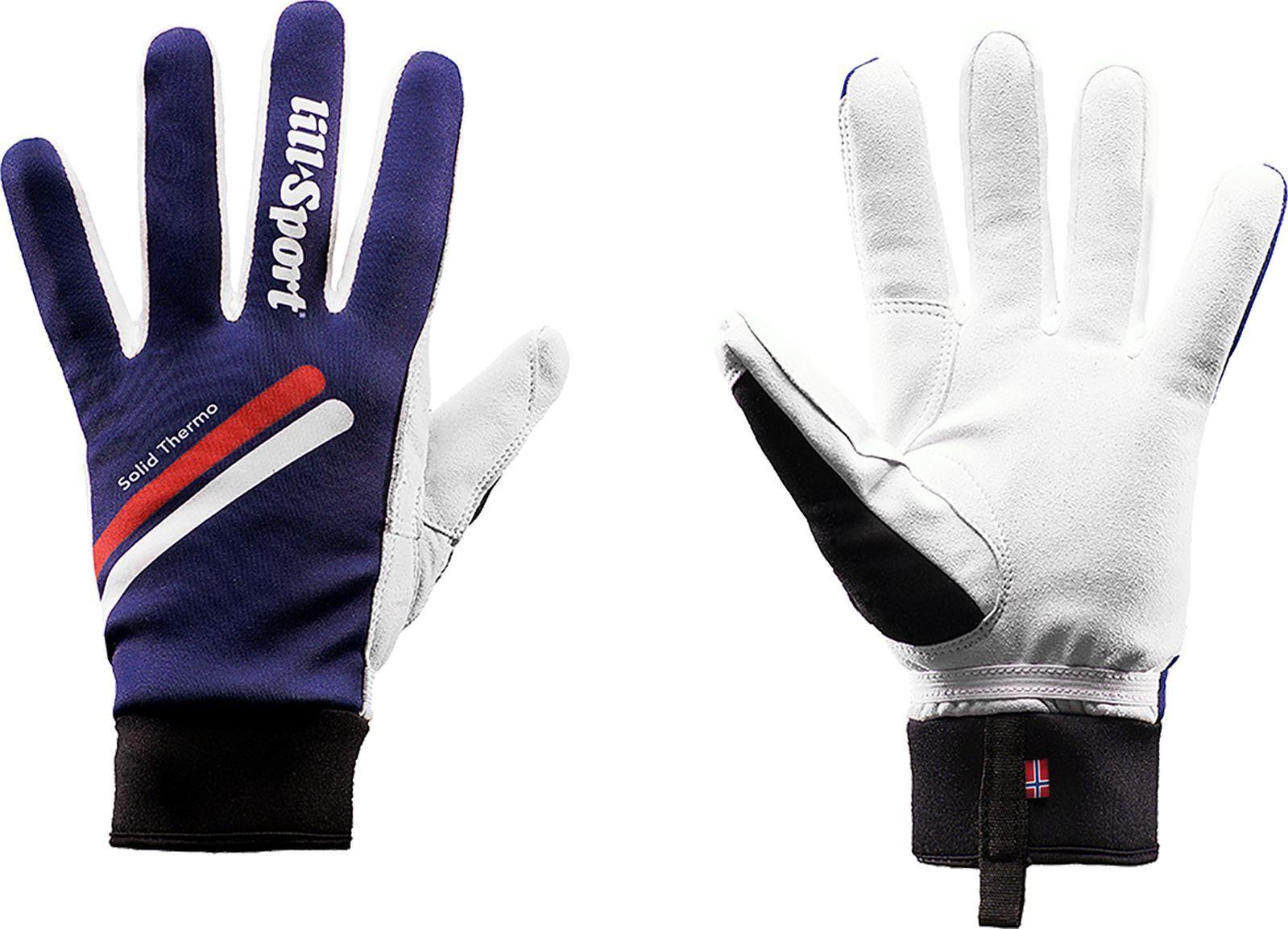 Перчатки лыжные Lillsport Solid Thermo, 0683/01, темно-синий, размер 5