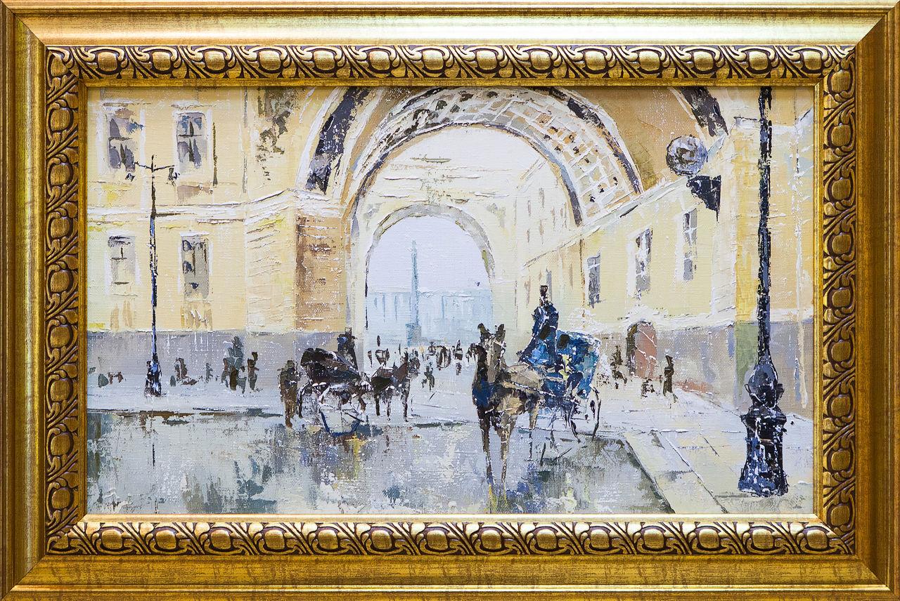 Картина маслом Дворцовая площадь Клеверов картина маслом петропавловка клеверов