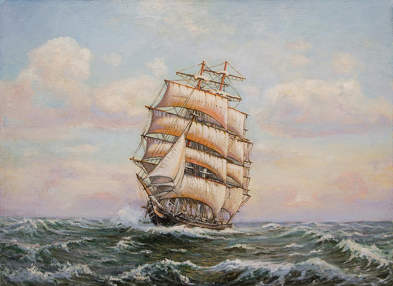 Картина маслом На всех парусах Воробьёв картина маслом гуляки воробьёв