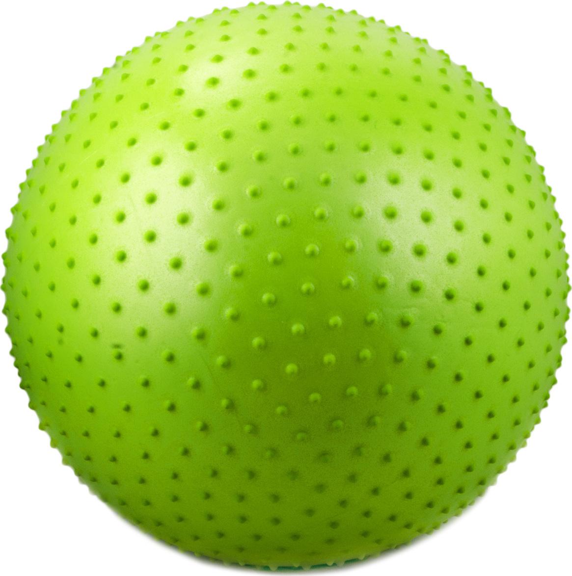 Мяч гимнастический массажный Starfit GB-301 (55 см, зеленый, антивзрыв) starfit мяч гимнастический массажный gb 301 65 см фиолетовый антивзрыв