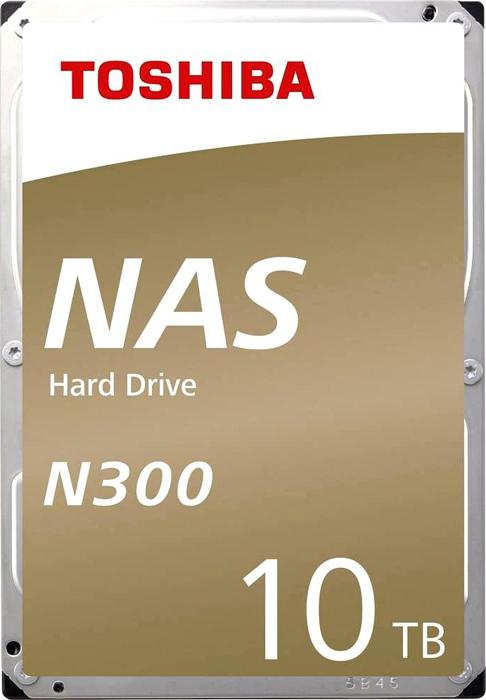 Жесткий диск 10Tb SATA-III Toshiba N300, HDWG11AEZSTA RTL жесткий диск toshiba sata iii 10tb hdwg11auzsva nas n300 7200rpm 256mb 3 5 bulk