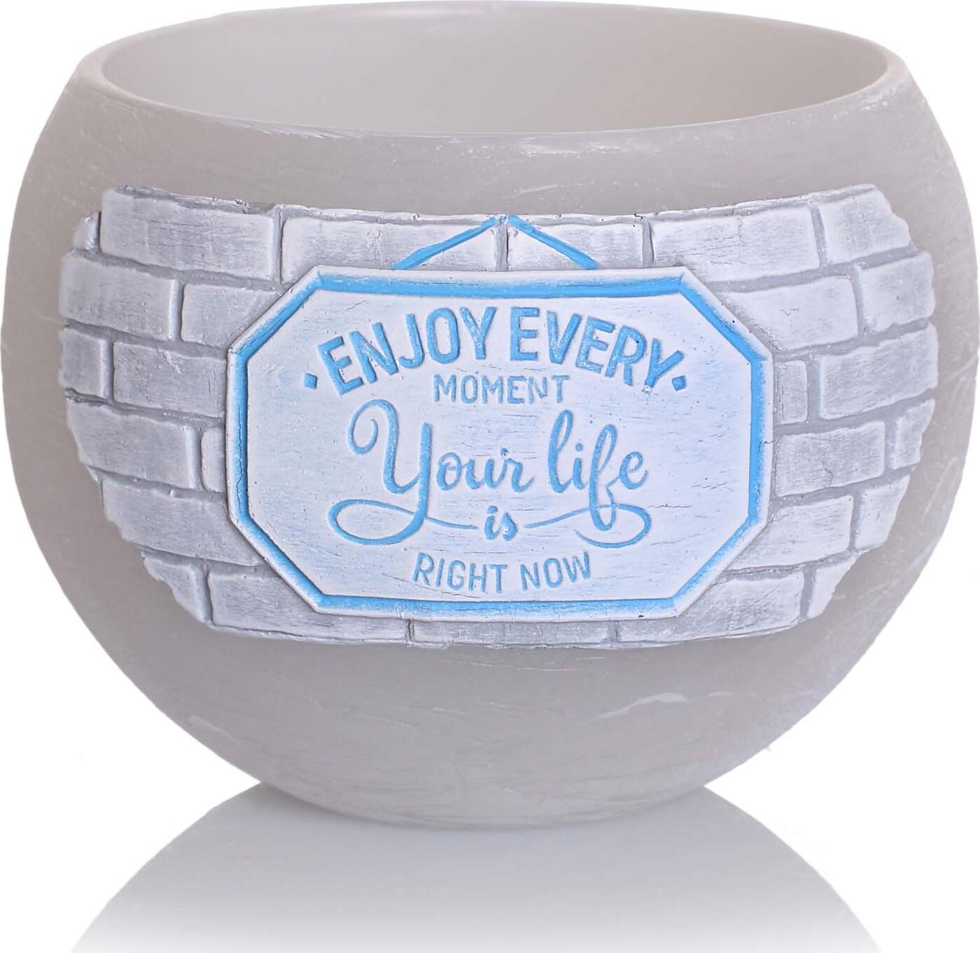 Свеча Bartek Your Life, светло-серый, диаметр 12 см