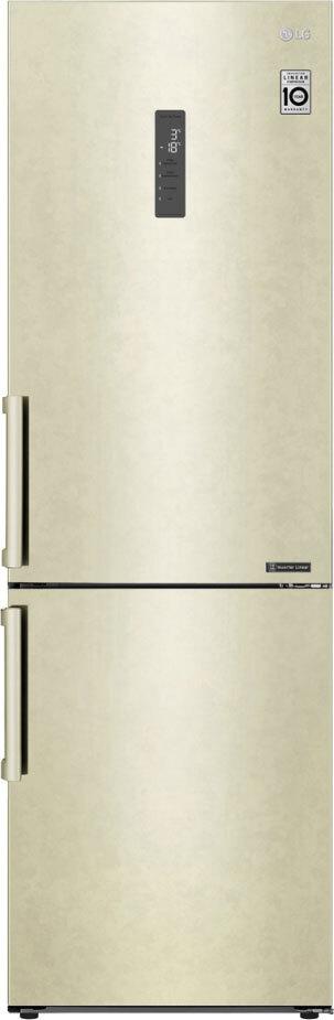 Холодильник LG GA-B459BEGL, бежевый