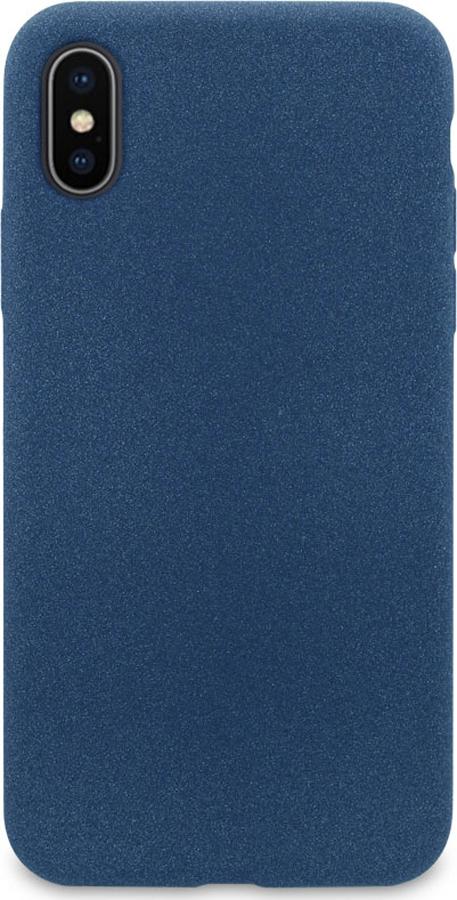 Чехол-накладка DYP Liquid Pebble для Apple iPhone X/XS темно-синий цена и фото