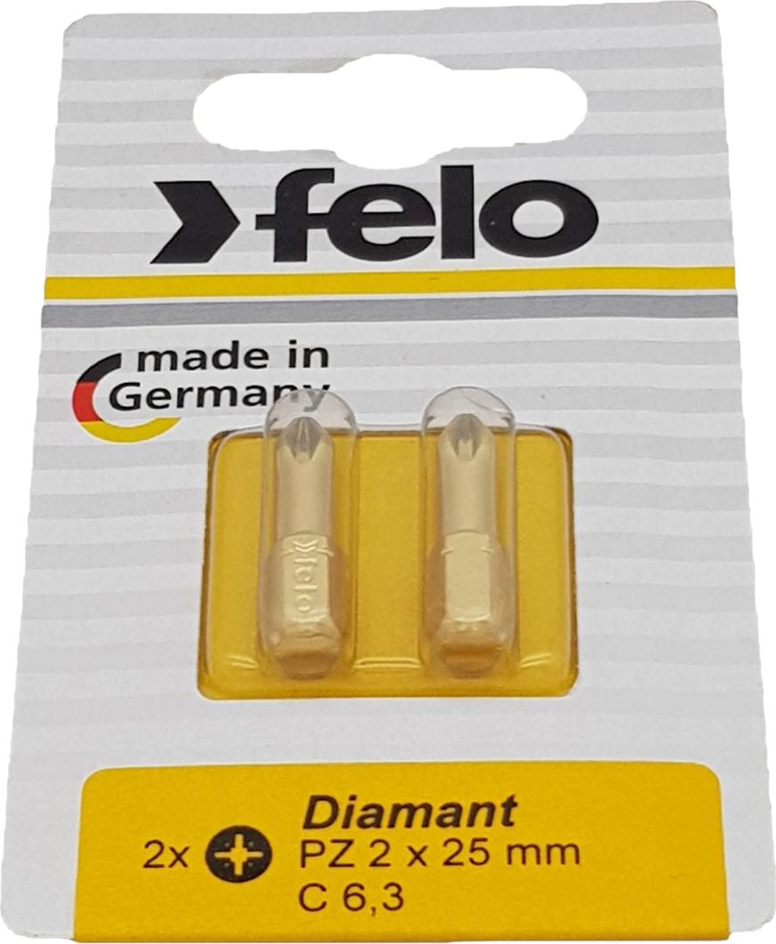 Бита для инструмента Felo Diamond, крестовая PZ 2х25 мм, FEL-02102286, 2 шт