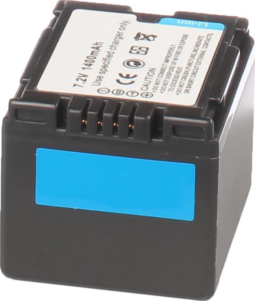 Аккумуляторная батарея iBatt iB-T1-F313 1440mAh для камер Hitachi DZ-MV350E, DZ-MV730E, DZ-BD70, DZ-GX3100E, DZ-MV380, DZ-BD7H, DZ-MV750E,  для Panasonic NV-GS27, NV-GS300, NV-GS400, NV-GS500, NV-GS35, SDR-H280, NV-GS6, SDR-H20, NV-GS230, NV-GS180,