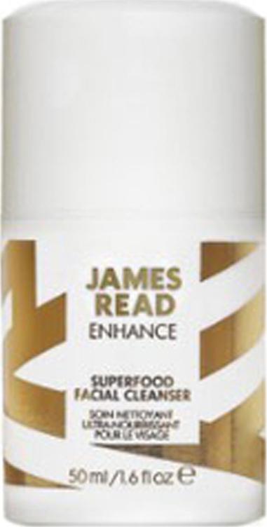 Очищающий гель для лица перед автозагаром James Read Enhance Superfood Facial Cleanser 50 мл Голубика тонизирует и омолаживает кожу лица. Очищающий гель Enhance...