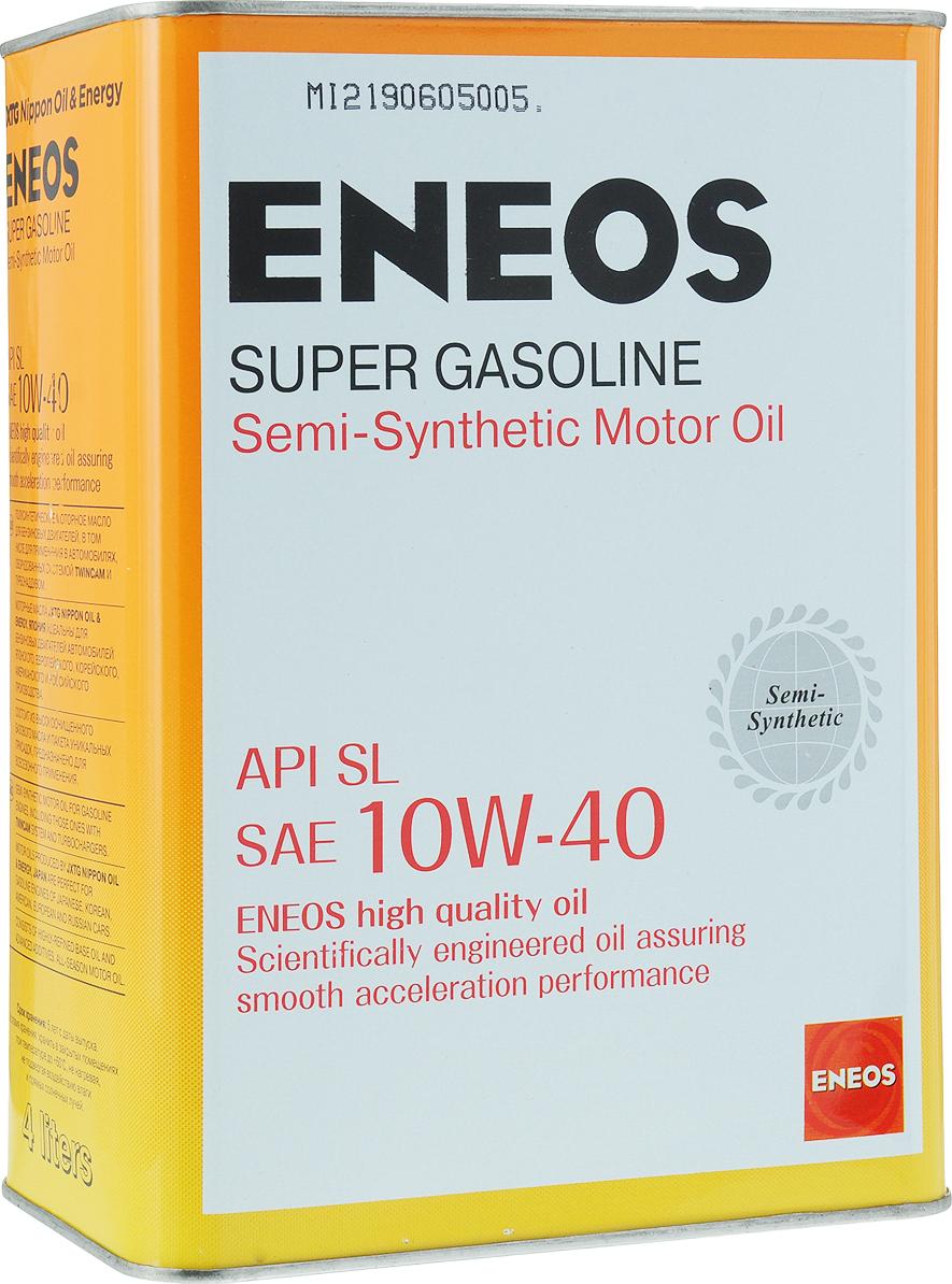 """Масло моторное ENEOS """"Super Gasoline"""", полусинтетическое, 10W-40, 4 л"""