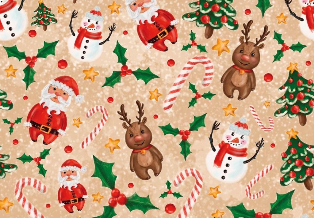 Новогодние картинки для упаковки подарков