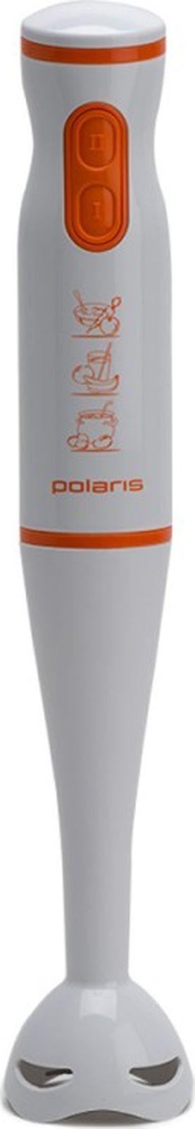 Блендер погружной Polaris PHB 0508, белый, оранжевый