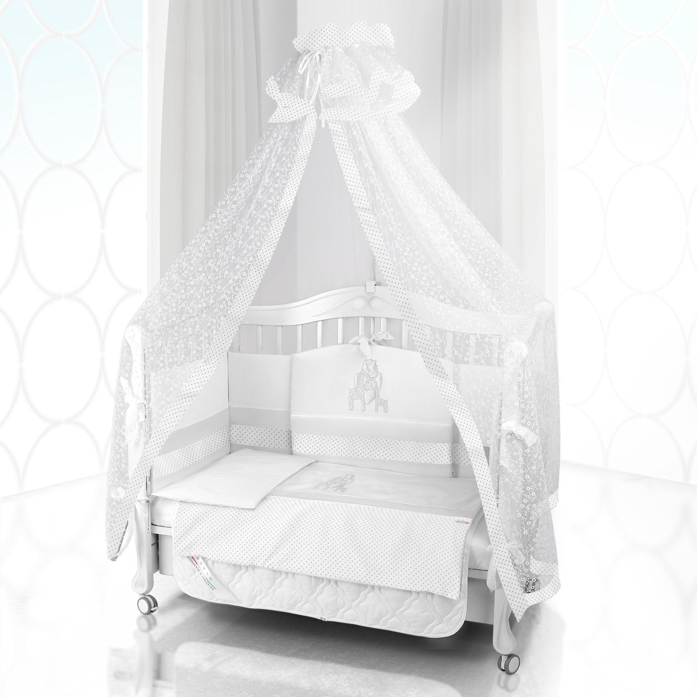 Комплект постельного белья Beatrice Bambini Unico Punto Di Giraffa (125х65) - bianco/bianco