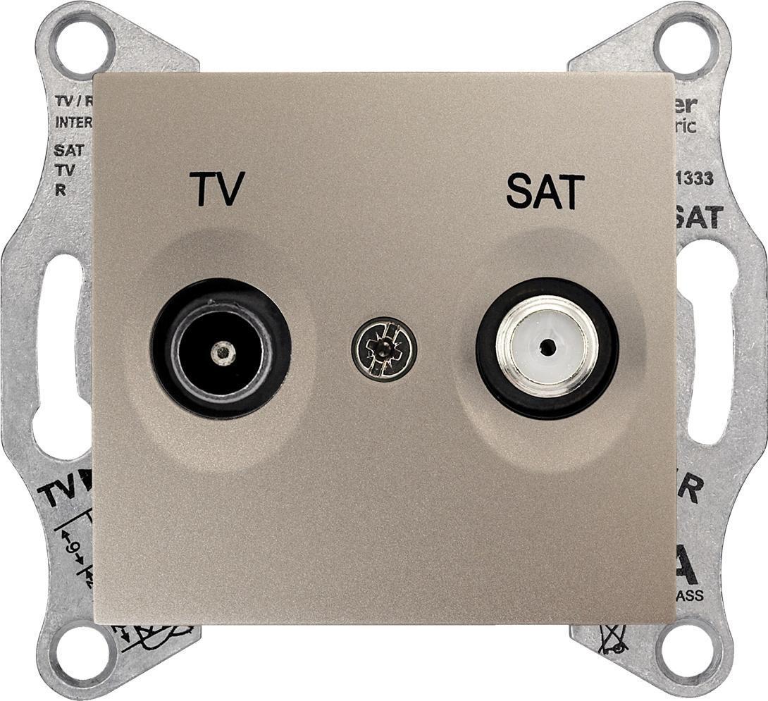 Механизм телевизионной розетки Schneider Electric Sedna TV 5-862мГц + SAT 950-2400мГц оконечный титан