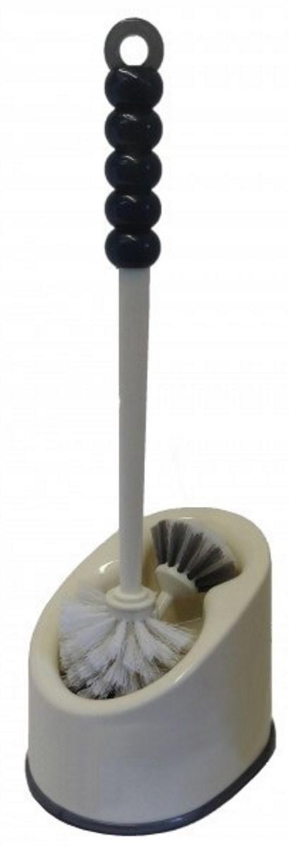 Ершик для унитаза LEDEME напольный, с 2-мя щеточками, белый, очищение на 360 градусов