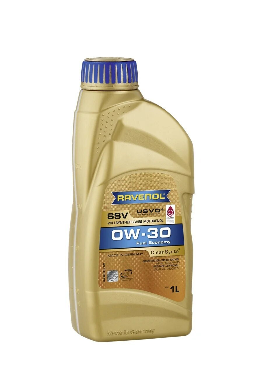 Моторное масло RAVENOL SSV Fuel Economy SAE 0W-30 ( 1л)
