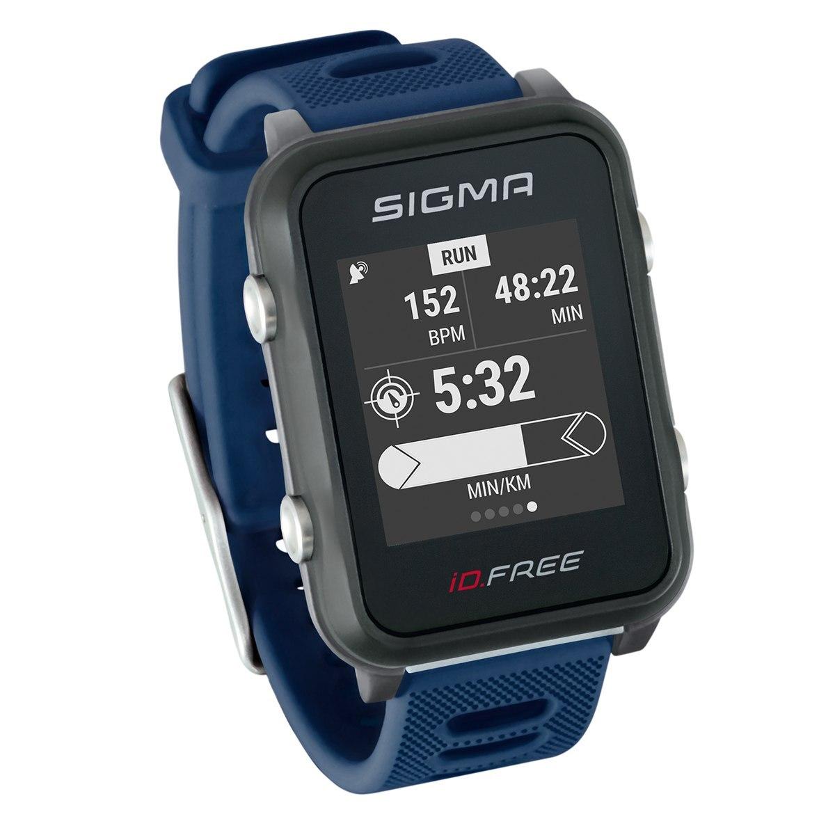 Мультиспортивные часы SIGMA ID.FREE Blue , GPS,    черн./син