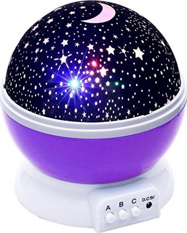 Светильник-проектор Подарочек 701647, фиолетовый