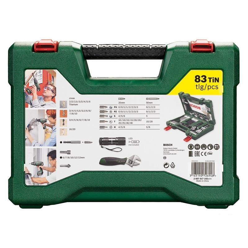 Набор принадлежностей V-line (83 шт.) Bosch 2607017193