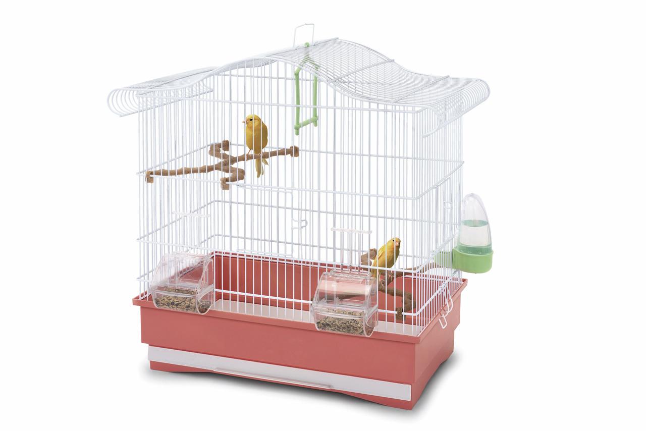 клетка для птиц imac serena, коралловая, 50х30х50см