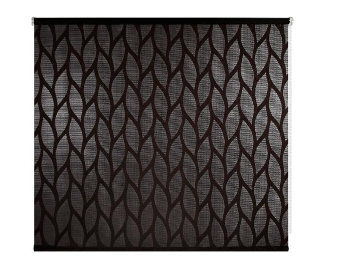 Штора рулонная 180x175 см, цвет чёрный-20560
