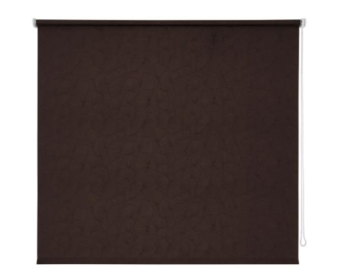 Штора рулонная, 160х175 см, цвет темно-коричневый-20243