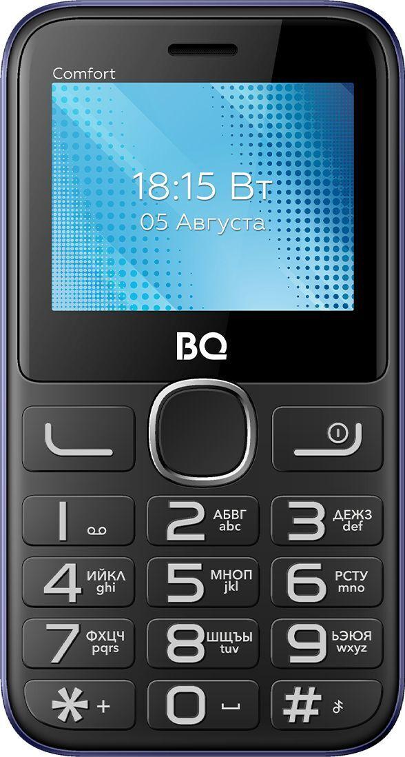 мобильный телефон bq 2301 comfort, черный, золотой