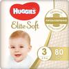 Huggies Подгузники Elite Soft 5-9 кг (размер 3) 80 шт - изображение