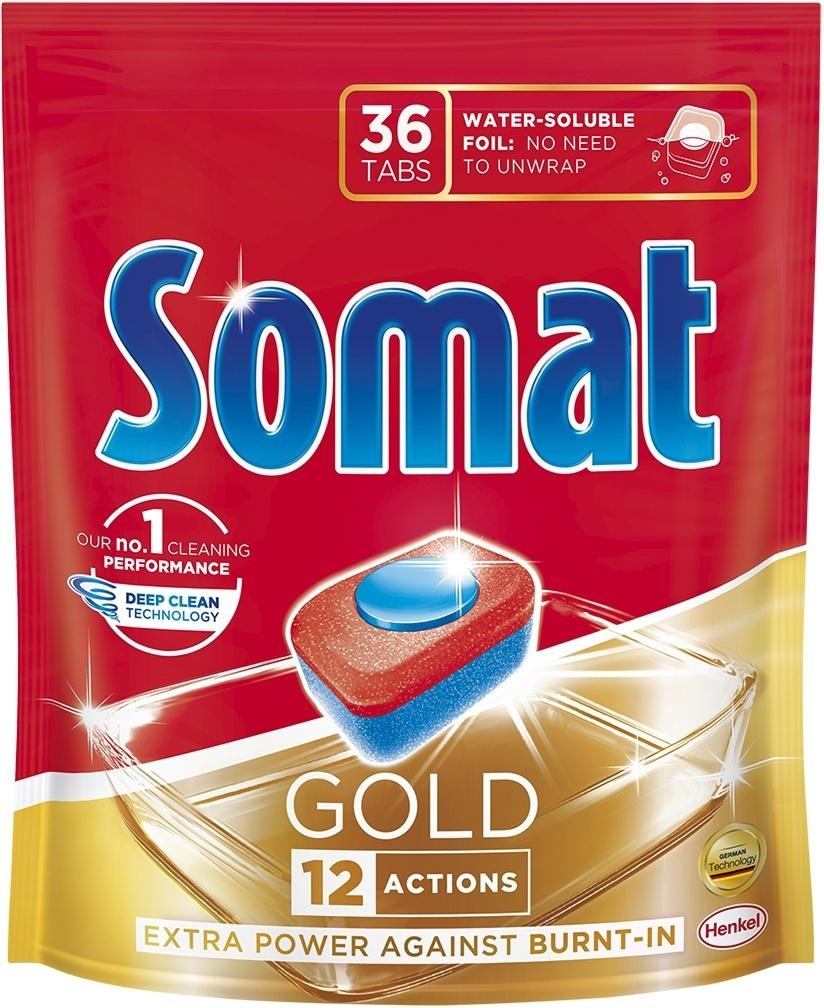 Средство для мытья посуды в посудомоечной машине Таблетки Somat Gold, 36 шт  #1