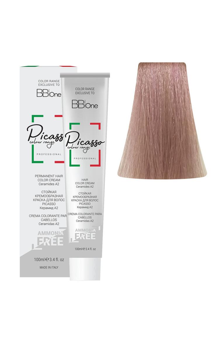 BB One Стойкая крем-краска для волос без аммиака Picasso, 10.8 блонд, 100 мл  #1