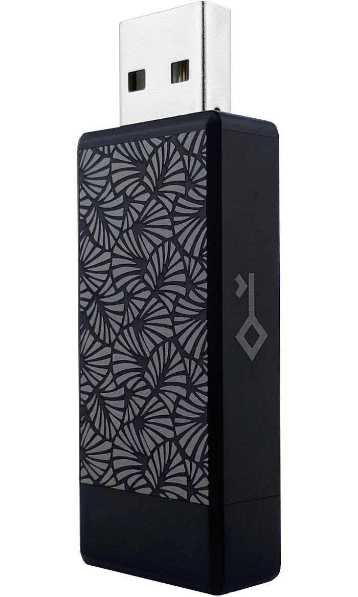 Устройство для хранения паролей Crypto Kakadu Air (Leaves) 8,25 МБ, черный  #1