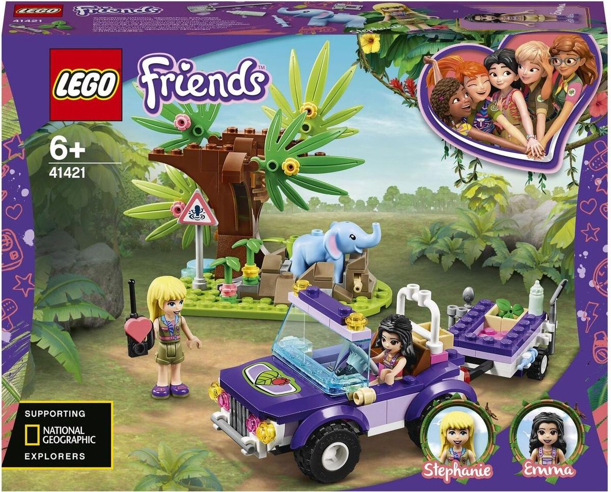 Конструктор LEGO Friends 41421 Джунгли: спасение слонёнка #1